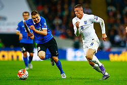 Ross Barkley of England in action - Mandatory byline: Jason Brown/JMP - 07966 386802 - 09/10/2015- FOOTBALL - Wembley Stadium - London, England - England v Estonia - Euro 2016 Qualifying - Group E
