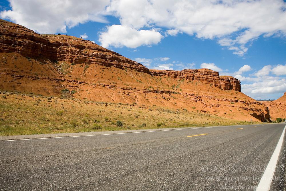 Scenic highway 287 towards Yellowstone National Park, Wyoming