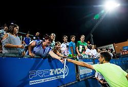 Winner Sergiy Stakhovsky (UKR) with fans after Trophy ceremony after the Final match of ATP Challenger Zavarovalnica Sava Slovenia Open 2017, on August 12, 2017 in Sports centre, Portoroz/Portorose, Slovenia. Photo by Vid Ponikvar / Sportida