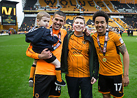Football - 2017 / 2018 Sky Bet Championship - Wolverhampton Wanderers vs. Sheffield Wednesday<br /> <br /> Wolverhampton Wanderer's Diego Jota and Hélder Costa celebrate with family members at Molineux.<br /> <br /> COLORSPORT