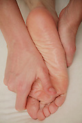 Massage of the foot.