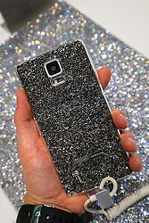 New Samsung Note 4 case covered in crystals  from Swarovski at launch at IFA 2014 consumer electronics show in Berlin