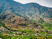 09 MARCH 2017 - BHAKTAPUR, NEPAL:  The view from the Pilot Baba Ashram, on top of a mountain near Bhaktapur, Nepal.    PHOTO BY JACK KURTZ