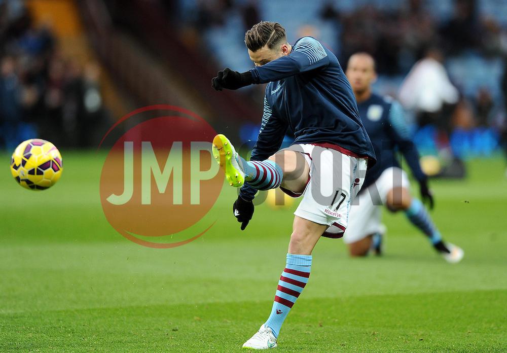 Aston Villa's Chris Herd  - Photo mandatory by-line: Joe Meredith/JMP - Mobile: 07966 386802 - 20/12/2014 - SPORT - football - Birmingham - Villa Park - Aston Villa v Manchester United - Barclays Premier League
