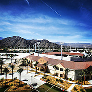 March 6, 2014, Indian Wells, California: <br /> An aerial view of the grounds at the Indian Wells Tennis Garden during the 2014 BNP Paribas Open.<br /> (Photo by Billie Weiss/BNP Paribas Open)