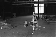 Marina on a rope swing, Glastonbury, 1993.
