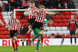 March 2, 2019 - Sunderland, England, United Kingdom - Sunderland's Grant Leadbitter contests for the ball with Plymouth Argyle's Ryan Taylor during the Sky Bet League 1 match between Sunderland and Plymouth Argyle at the Stadium Of Light, Sunderland on Saturday 2nd March 2019. (Credit Image: © Mi News/NurPhoto via ZUMA Press)
