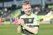 Forest Green Rovers Nathan McGinley(19) during the EFL Sky Bet League 2 match between Forest Green Rovers and Macclesfield Town at the New Lawn, Forest Green, United Kingdom on 13 April 2019.