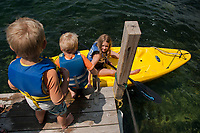 Camp Island Lake Winnipesaukee with the Herrmann family.  ©2015 Karen Bobotas Photographer