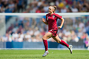 Georgia Stanway (England) running on to the pitch as a substitute in the 2nd half during the FIFA Women's World Cup UEFA warm up match between England Women and New Zealand Women at the American Express Community Stadium, Brighton and Hove, England on 1 June 2019.