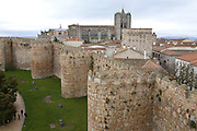 City walls of Avila, Spain.