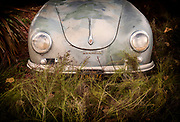 Image of a vintage Porsche 356 at Luft 4 in San Pedro, California, America west coast