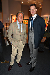 Left to right, VALENTINO and PRINCE PAVLOS OF GREECE at the PAD London 2015 VIP evening held in the PAD Pavilion, Berkeley Square, London on 12th October 2015.