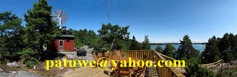 Scandinavia Finland The Turku Archipelago..Kirjais luxury Mökki cottage wooden house hut on top of hill, on Baltic sea