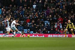 West Ham United's Kevin Nolan scores the second goal - Photo mandatory by-line: Matt Bunn/JMP - Tel: Mobile: 07966 386802 08/02/2014 - SPORT - FOOTBALL - Birmingham - Villa Park - Aston Villa v West Ham United - Barclays Premier League