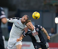 Dundee&rsquo;s James Vincent and Ross County's Craig Curran - Ross County v Dundee in the Ladbrokes Scottish Premiership at The Global Energy Stadium, Dingwall, Photo: David Young<br /> <br />  - &copy; David Young - www.davidyoungphoto.co.uk - email: davidyoungphoto@gmail.com