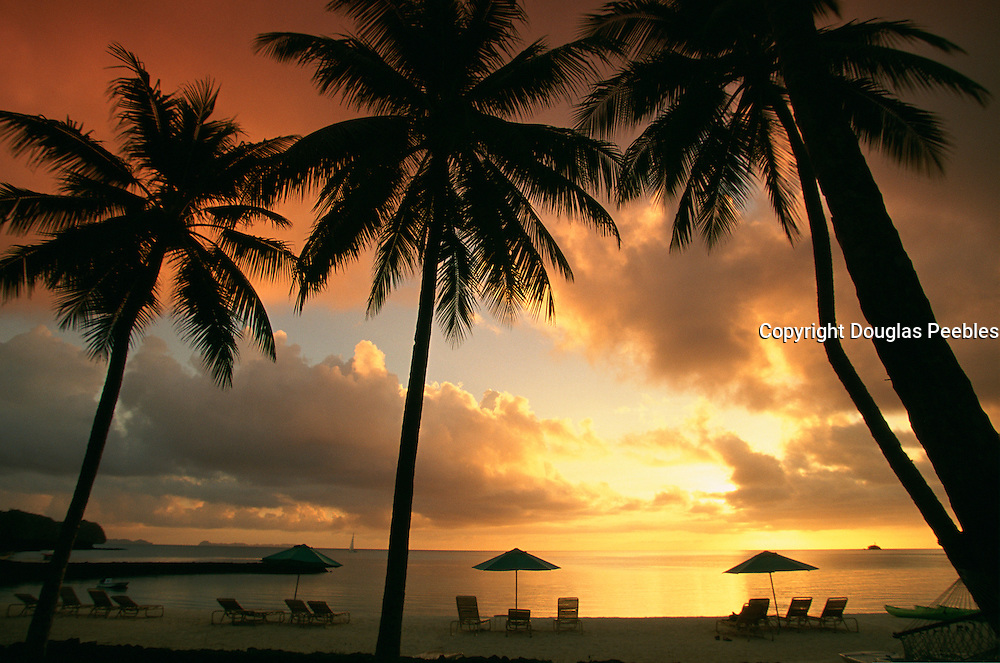Sunset, Palau Pacific Resort, Palau, Micronesia<br />