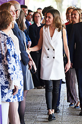 Queen Letizia of Spain attends the '5th Educational Congress on Rare Diseases' at High School 'Pedro de Valdivia' on April 26, 2018 in Villanueva de la Canada, Spain. 26 Apr 2018 Pictured: Queen Letizia. Photo credit: MEGA TheMegaAgency.com +1 888 505 6342