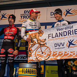 2019-11-17 Cycling: dvv verzekeringen trofee: Flandriencross: Mathieu van der Poel wins in Hamme,  Laurens Sweek ends second and Tim Merlier third