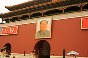 China, Beijing, The Forbidden City August 2008 portrait of Chairman Mao