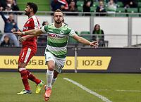 BILDET INNGÅR IKEK I FASTAVTALER. ALL NEDLASTING BLIR FAKTURERT.<br /> <br /> Fotball<br /> Tyskland<br /> Foto: imago/Digitalsport<br /> NORWAY ONLY<br /> <br /> 17.04.2016 - Fussball - Saison 2015 2016 - 2. Fussball - Bundesliga - 30. Spieltag: SpVgg Greuther Fürth Fuerth - Fortuna Düsseldorf - / - Torjubel Jubel Freude nach Tor zum 1:0 durch Veton Berisha (19, SpVgg Greuther Fürth )