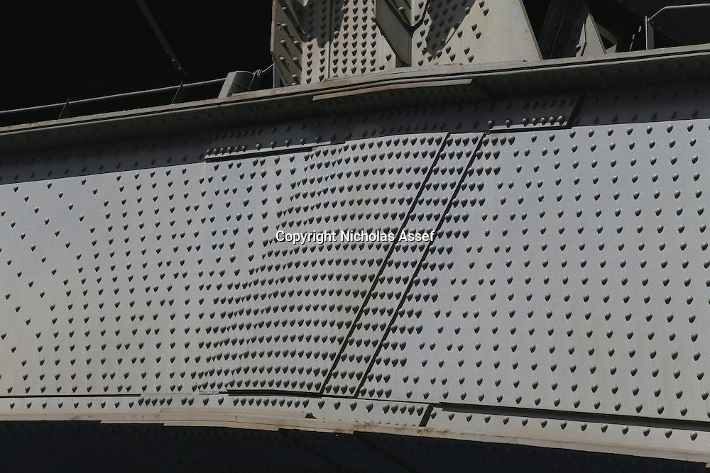Rivet reinforcement on the Sydney Harbour Bridge