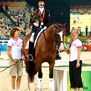 Paralympic gold medallists Lauren Barwick and Maile at the Hong Kong Venue of the 2008 Paralympic Games