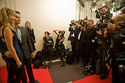 Karoline Copping; Jimmy Carr, The Elle Style Awards 2009, The Big Sky Studios, Caledonian Road. London. February 9 2009.  *** Local Caption *** -DO NOT ARCHIVE -Copyright Photograph by Dafydd Jones. 248 Clapham Rd. London SW9 0PZ. Tel 0207 820 0771. www.dafjones.com<br /> Karoline Copping; Jimmy Carr, The Elle Style Awards 2009, The Big Sky Studios, Caledonian Road. London. February 9 2009.