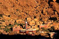 Maroc, Anti Atlas, Region de Tafraoute, village de Adaï // Morocco, Anti Atlas region, Tafraoute, Adai village
