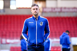 James Clarke of Bristol Rovers arrives at Doncaster Rovers - Mandatory by-line: Robbie Stephenson/JMP - 26/03/2019 - FOOTBALL - Keepmoat Stadium - Doncaster, England - Doncaster Rovers v Bristol Rovers - Sky Bet League One