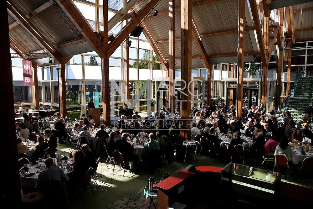 The annual BRAVA breakfast celebrating art and artists in Eugene, Oregon.