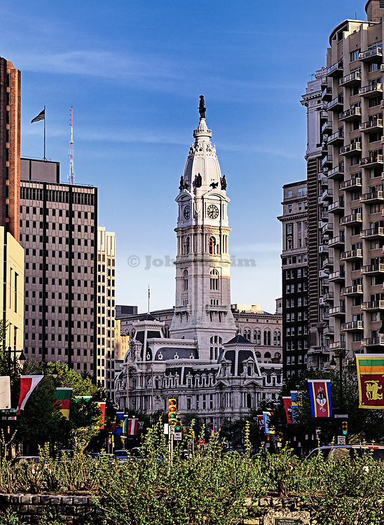 Statue of William Penn atop Philadelphia City Hall, Philadelphia, Pennsylvania