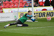 Doncaster Rovers goalkeeper Marko Marosi  during the The FA Cup third round match between Doncaster Rovers and Stoke City at the Keepmoat Stadium, Doncaster, England on 9 January 2016. Photo by Simon Davies.