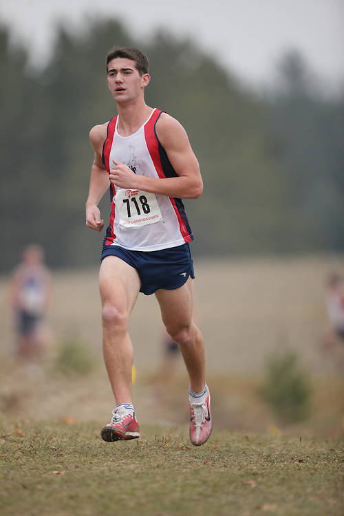 King City, Ontario ---09-11-15--- Jan Louis Henning of the Saugeen Track and Field Club competes in the AO Cross Country at the Athletics Ontario Cross Country Championships in King City, Ontario, November 16, 2009..GEOFF ROBINS Mundo Sport Images