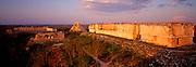 MEXICO, MAYAN CULTURE, YUCATAN Uxmal, Governor's Palace and Pyramid