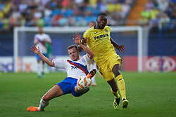 September 20, 2018 - Vila-Real, Castellon, Spain - Karl Toko Ekambi of Villarreal CF and Andrew Halliday of Rangers FC during the UEFA Europa League Group G match between Villarreal CF and Rangers FC at La Ceramica Stadium on September 20, 2018 in Vila-real, Spain. (Credit Image: © Maria Jose Segovia/NurPhoto/ZUMA Press)