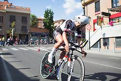 Ellen van Dijk (NED) of Team Sunweb checks her teammates on Stage 1 of the Madrid Challenge - a 12.6 km team time trial, starting and finishing in Boadille del Monte on September 15, 2018, in Madrid, Spain. (Photo by Balint Hamvas/Velofocus.com)