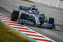 February 18, 2019 - Barcelona, Spain - 44 HAMILTON Lewis (gbr), Mercedes AMG F1 GP W10 Hybrid EQ Power+, action during Formula 1 winter tests from February 18 to 21, 2019 at Barcelona, Spain - : FIA Formula One World Championship 2019, Test in Barcelona, (Credit Image: © Hoch Zwei via ZUMA Wire)