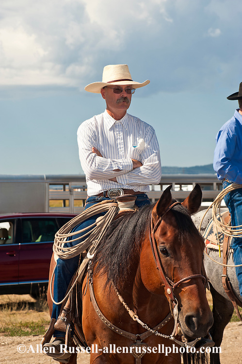 Cowboy At Wilsall Ranch Rodeo In Montana Allen Russell