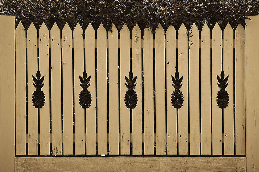 Pineapple Fence, Key West, Florida