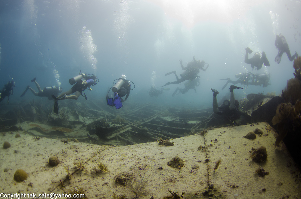 Evidently an underwater tourist trap, who knew you could run into traffic even in the deep blue sea!