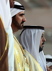 Sheikh Khalifa bin Zayed Al Nayhan (right) with Crown Prince Mohammed bin Rashid Al Maktoum.   Photo by: Stephen Lock/i-Images