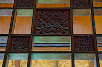 Balinese wall decoration texture at Kerta Gosa in Klungklung in Bali Indonesia