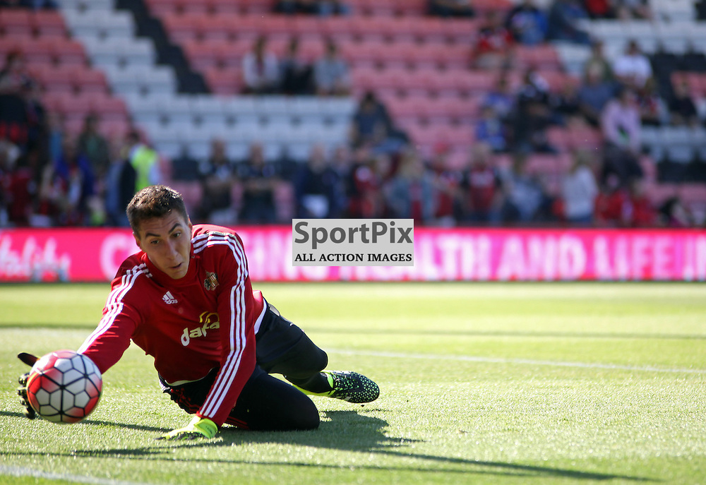 Costel Pantilimon warms up before Bournemouth vs Sunderland on Saturday 19th September 2015.