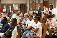 RISE St. James members ( Myrtle Felton, and Barbara Washington in middle row, and Sharon Laving in back row) Appeal hearing of a permit granted for Wanhua at the St James Parish Council Meeting on July 24, 2019.  Wanhua plans to build a  $1.25 Billion Chemical Complex t in St. James Parish but a group of residents in the parish are fighitng against it.  THe Tulane Environmental Law Clinic (TELC) is representing community members, RISE St. James and the Louisiana Bucket Brigade in a fight to stop the plant from being permitted.