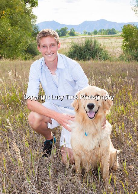 High School Senior Portrait with Pet, High school senior portrait with dog, senior picture with dog,