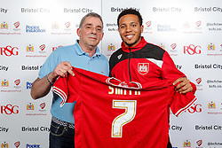 Korey Smith of Bristol City poses during the Player Sponsors' Evening in the Sports Bar & Grill at Ashton Gate - Mandatory byline: Rogan Thomson/JMP - 11/04/2016 - FOOTBALL - Ashton Gate Stadium - Bristol, England - Bristol City Player Sponsors' Evening.