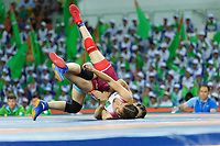 Ashgabat 2017 - 5th Asian Indoor & MartialArts Games 25-09-2017. Womens Wrestling, Merjen Rahiyewa (TKM) v Xingru Pei (CHN)