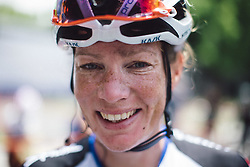 Kirsten Wild (NED) of Hitec Products Cycling Team, the winner of the fourth, 70 km road race stage of the Amgen Tour of California - a stage race in California, United States on May 22, 2016 in Sacramento, CA.