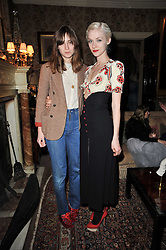 Left to right, VALENTINE FILLOL CORDIER and PORTIA FREEMAN at a screening of Charlotte Olympia's new film 'To Die For' held at Mark's Club, Charles Street, London W1 on 22nd February 2011.